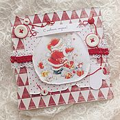 Открытки handmade. Livemaster - original item Greeting card with Santa Claus. Handmade.