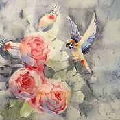 Картины и панно ручной работы. Ярмарка Мастеров - ручная работа пташка 2. Handmade.