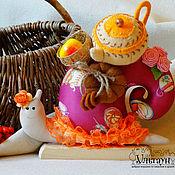 Куклы и игрушки ручной работы. Ярмарка Мастеров - ручная работа Улитка тильда Хозяюшка улиточка подарок. Handmade.