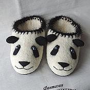 Обувь ручной работы. Ярмарка Мастеров - ручная работа тапочки панда  25-25,5см. Handmade.