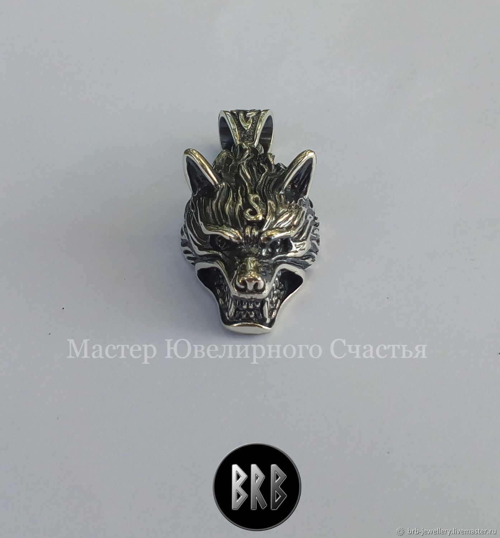 "The amulet, a totem, a talisman, ""Wolf"" silver 925, Pendants, Penza,  Фото №1"