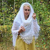 Аксессуары handmade. Livemaster - original item Downy openwork shawl