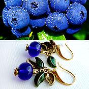 Украшения ручной работы. Ярмарка Мастеров - ручная работа Серьги Blueberry в стиле Dolce&Gabbana.. Handmade.
