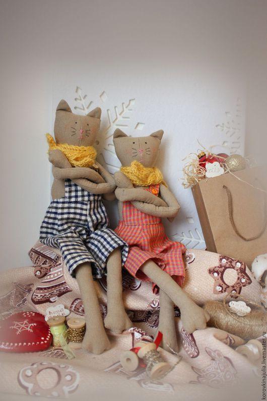 Игрушки животные, ручной работы. Ярмарка Мастеров - ручная работа. Купить Серьезный кот. Handmade. Комбинированный, игрушка ручной работы