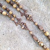 Necklace handmade. Livemaster - original item Beads long. Jasper landscape agate, tree Philippines. Handmade.