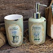 """Для дома и интерьера ручной работы. Ярмарка Мастеров - ручная работа Набор для ванной """"Лавандовое пралине"""" В стиле Прованс,для ванной. Handmade."""