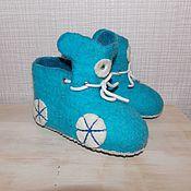 Обувь ручной работы. Ярмарка Мастеров - ручная работа Тапочки детские. Handmade.