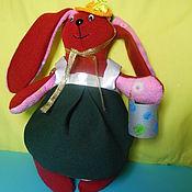 """Куклы и игрушки ручной работы. Ярмарка Мастеров - ручная работа Зайка """"Хозяюшка"""". Handmade."""
