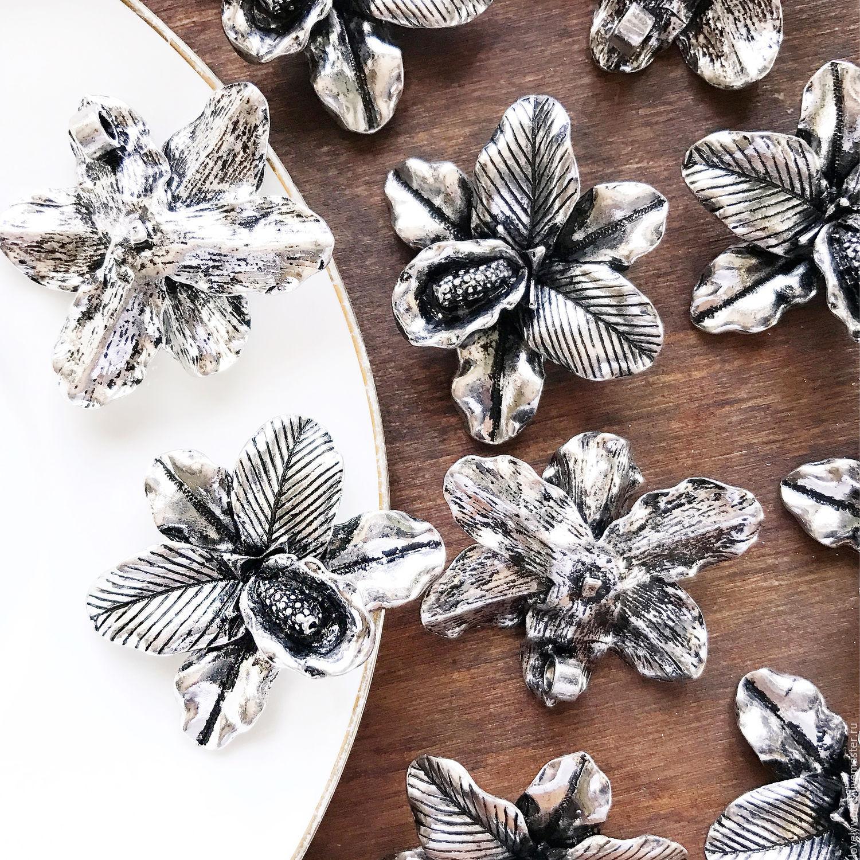 Подвеска цветок дешевая глина полимерная