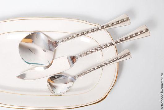 Винтажная посуда. Ярмарка Мастеров - ручная работа. Купить Комплект сервировочная ложка, нож для рыбы серебро 916 Таллин винтаж. Handmade.