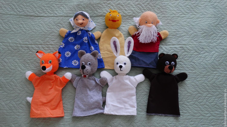 Игрушки перчатки для кукольного театра своими руками фото 803