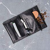 Сумки и аксессуары handmade. Livemaster - original item Tobacco pouch for rolling cigarettes comodo nero. Handmade.
