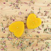 """Сувениры и подарки ручной работы. Ярмарка Мастеров - ручная работа свечи """"Два сердца"""". Handmade."""