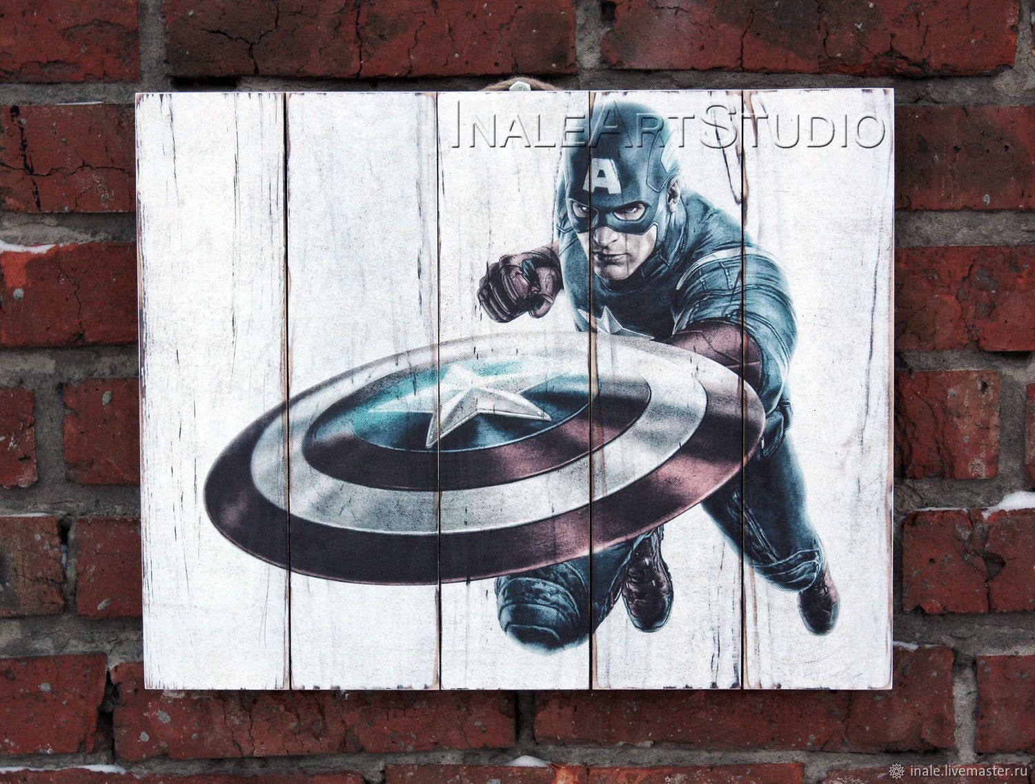 Captain America Picture on wood Wood wall hanging, Pictures, Tomsk,  Фото №1