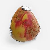 "Украшения handmade. Livemaster - original item Ring ""Dinosaur Egg"" calcite, silver 925. Handmade."