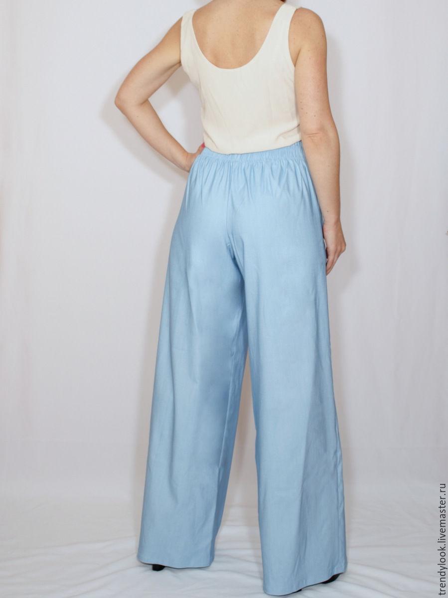 Голубые брюки доставка
