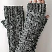 Аксессуары handmade. Livemaster - original item Fingerless gloves knit long M 26, 182. Handmade.