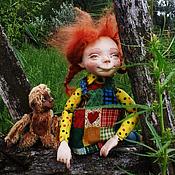 Куклы и игрушки ручной работы. Ярмарка Мастеров - ручная работа Авторская кукла Пеппи Длинныйчулок. Handmade.
