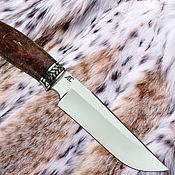 Сувениры и подарки ручной работы. Ярмарка Мастеров - ручная работа Нож Тайга 1 (сталь D2), рукоять - акрил, мельхиор. Handmade.