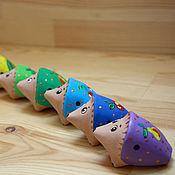 Куклы и игрушки ручной работы. Ярмарка Мастеров - ручная работа Ёжики-свистульки. Handmade.