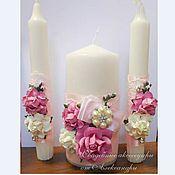 """Свадебный салон ручной работы. Ярмарка Мастеров - ручная работа Семейный очаг """"Цветы"""", в розовом. Handmade."""