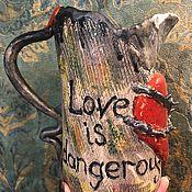 Кувшины ручной работы. Ярмарка Мастеров - ручная работа Керамический кувшин Love is... Handmade.
