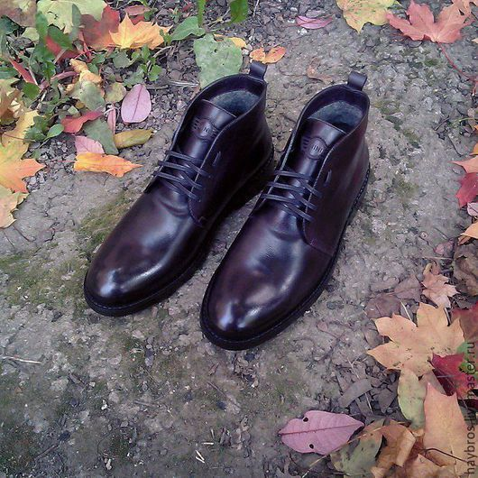 Обувь ручной работы. Ярмарка Мастеров - ручная работа. Купить Зимние ботинки MB-42. Handmade. Тёмно-фиолетовый