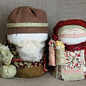 Куклы и игрушки ручной работы. Ярмарка Мастеров - ручная работа Крупеничка и Богач русская народная кукла. Handmade.