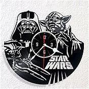 """Для дома и интерьера ручной работы. Ярмарка Мастеров - ручная работа Часы из пластинки """"Star wars"""". Handmade."""