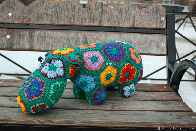 Бегемот Изумрудик (Изя), Мягкие игрушки, Санкт-Петербург,  Фото №1