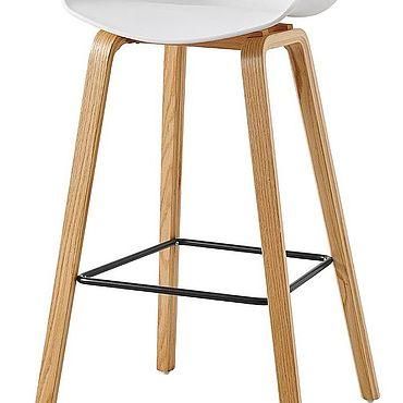Мебель ручной работы. Ярмарка Мастеров - ручная работа Стул барный Валетта белый бук/матовый черный металл. Handmade.