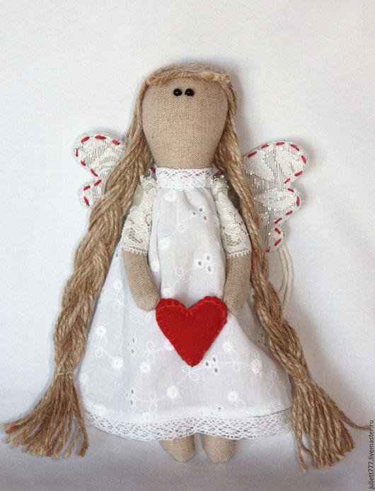 Куклы Тильды ручной работы. Ярмарка Мастеров - ручная работа. Купить Ангел с сердцем. Handmade. Ангел, сердце, белый
