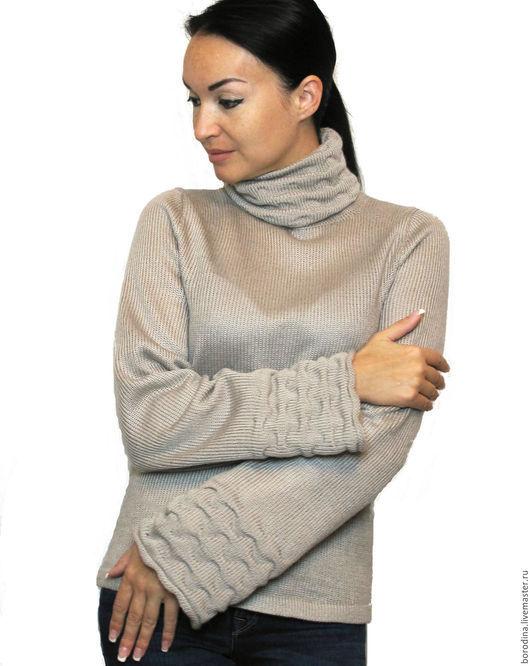 """Кофты и свитера ручной работы. Ярмарка Мастеров - ручная работа. Купить Свитер """"Туман"""". Handmade. Серый, свитер вязаный"""