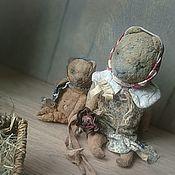 """Куклы и игрушки ручной работы. Ярмарка Мастеров - ручная работа """"Цветочек"""" мишка тедди, полупримитив. Handmade."""