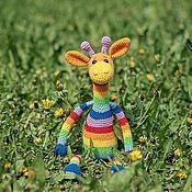 Куклы и игрушки handmade. Livemaster - original item Giraffe rainbow crochet. Handmade.