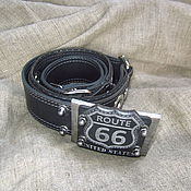 Аксессуары handmade. Livemaster - original item Belt Route 66. Handmade.