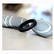 Украшения handmade. Livemaster - original item A narrow ring of black wood. Handmade.
