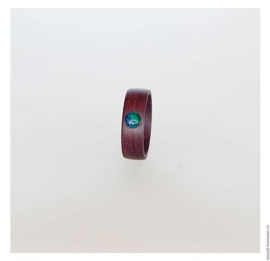 Кольца ручной работы. Ярмарка Мастеров - ручная работа. Купить Кольцо с черным опалом.. Handmade. Кольцо из дерева, опал натуральный