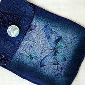 """Сумки и аксессуары ручной работы. Ярмарка Мастеров - ручная работа Чехол для Ipad mini """"Синие бабочки"""". Handmade."""