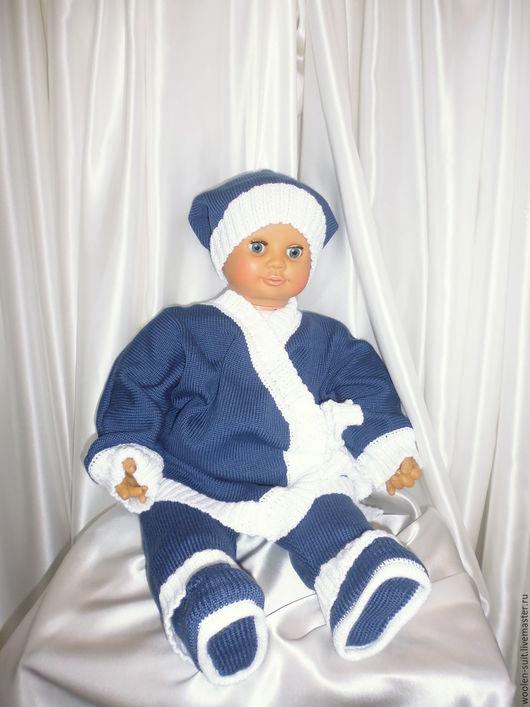 Одежда для мальчиков, ручной работы. Ярмарка Мастеров - ручная работа. Купить Костюм для малыша Индиго. Handmade. Тёмно-синий, на резинке