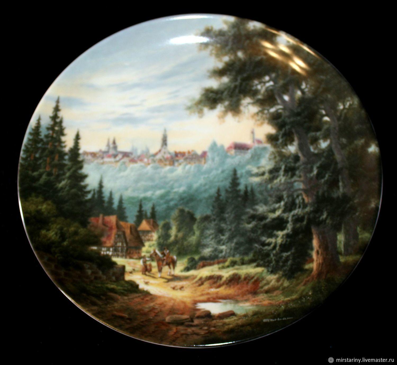Landscape plates 'Romantic journey', Germany, Vintage interior, Moscow,  Фото №1