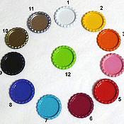 Материалы для творчества ручной работы. Ярмарка Мастеров - ручная работа Крышечка  кабошон под картинку для бантиков 12 цветов. Handmade.