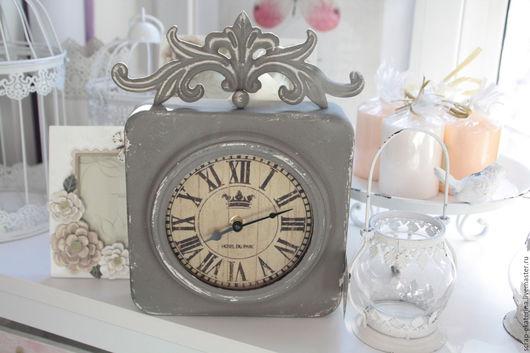 Часы для дома ручной работы. Ярмарка Мастеров - ручная работа. Купить Часы настенные, винтаж. Handmade. Серый, часы настенные