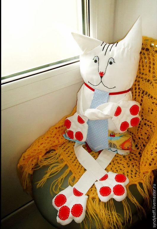 """Игрушки животные, ручной работы. Ярмарка Мастеров - ручная работа. Купить Подушка-игрушка """"Кот Василий"""". Handmade. Белый"""
