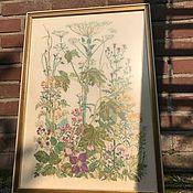 Винтаж handmade. Livemaster - original item Handmade embroidery Botanica, the Netherlands. Handmade.