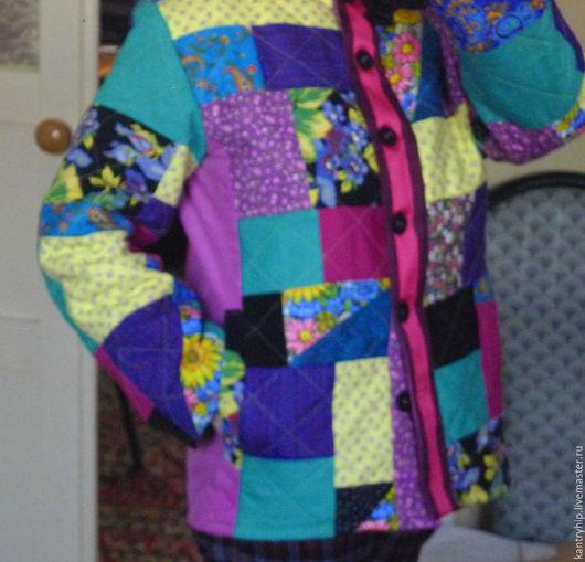 """Верхняя одежда ручной работы. Ярмарка Мастеров - ручная работа. Купить Лоскутная куртка """"Прогулка"""". Handmade. Комбинированный, стеганая куртка"""