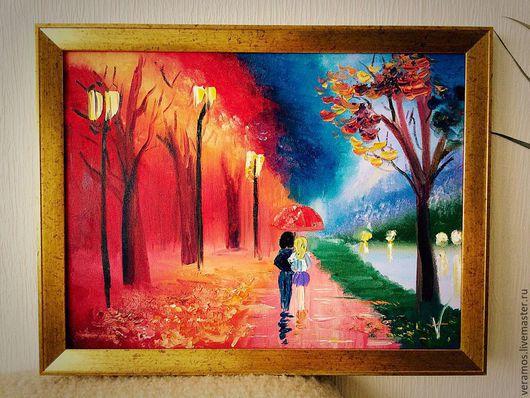 `Дождливая осень` картина маслом