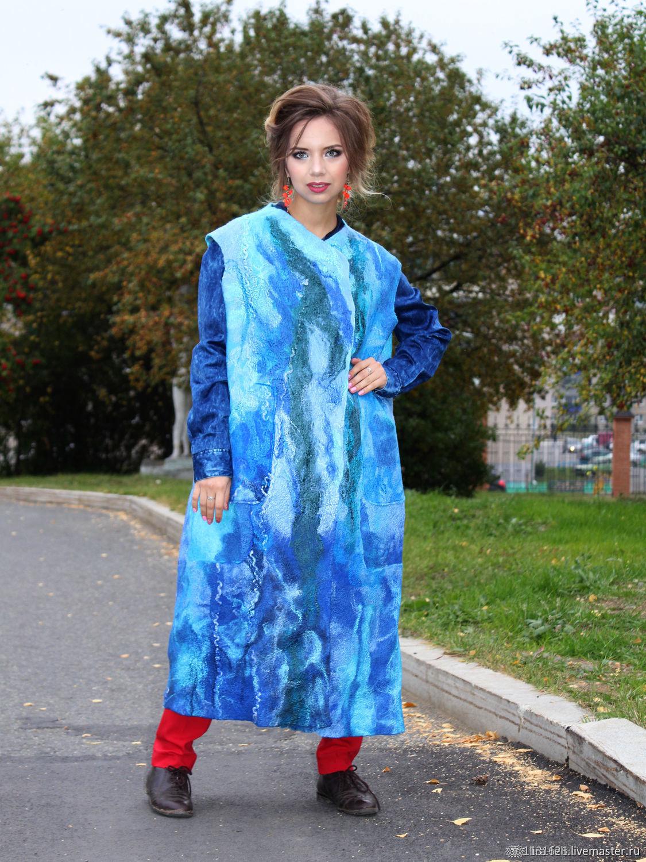 vests: Felted Vest-Coat, Vests, Magnitogorsk,  Фото №1