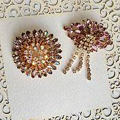 Винтаж handmade. Livemaster - original item Vintage brooch with crystals Czechoslovakia 60-70s Yablonex Czechoslovakia. Handmade.