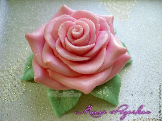 Мыло ручной работы. Ярмарка Мастеров - ручная работа. Купить Розочка. Handmade. Розовый, ароматное мыло, мыло в подарок